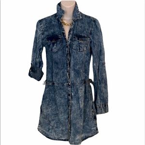 Euc new look Jean dress or shirt size small